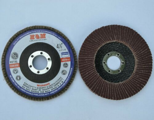 "50 Flap Discs  4-1//2/"" in x 7//8 A//O 40G Sanding Sand paper Grinding Whe"
