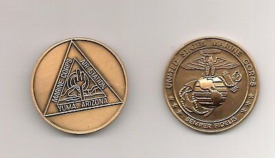 "MARINE CORPS YUMA ARIZONA AIR STATION 1.75/"" MILITARY CHALLENGE COIN"