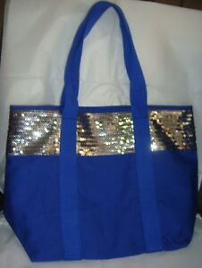 H-amp-M-Sequined-TOTE-Blue