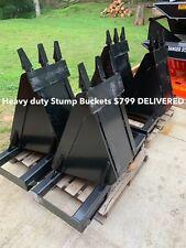 Heavy Duty Skid Steer Stump Buckets