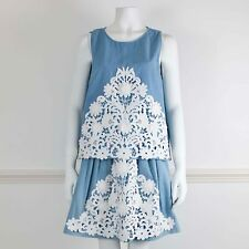 MOSCHINO CHEAP & CHIC Light Blue 2 Piece Skirt Top Matching Set It46/48 UK 14/16