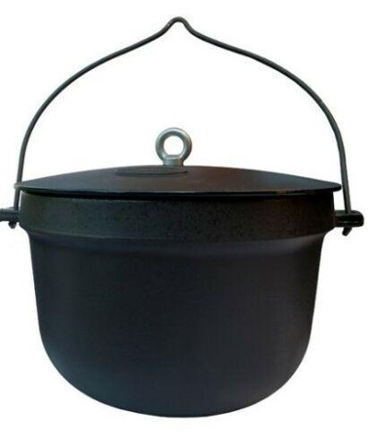 Gusseisen Feuerkessel Feuertopf Kochtopf Dutch Camping Oven mit Deckel 10 ml