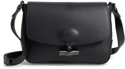 NWT Longchamp Roseau Flap Leather Toggle Crossbody Bag BLACK $450 AUTHENTIC  3597921274568 | eBay