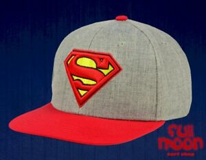 separation shoes 3686d 04b0e Image is loading DC-Comics-Superman-Embroidered-Heather-Mens-Snapback-Cap-