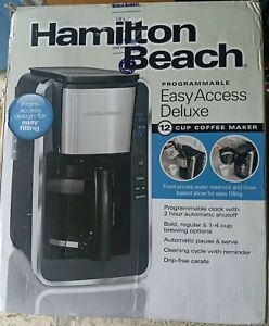 Hamilton Beach 12-Cup Black Programmable Easy Access Deluxe Coffee Maker GallyHo