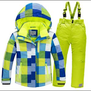 fdfc33c65 New Girls boys Ski Set Suit Kids Snowboard Outdoor Snow Jacket&pants ...