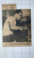 1949 Australian Triple Champion Dave Sands Punchbag Elswick Gymnasium Newcastle