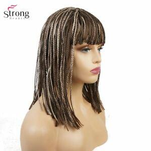Women s Synthetic Wig Black Braided Box Braids Wigs for African ... d5ba791682