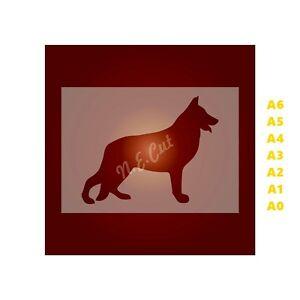 GERMAN-SHEPHERD-Dog-Stencil-350-micron-Mylar-not-Hobby-stuff-DOGS064