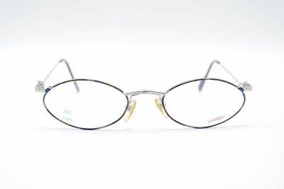 100% Wahr Vintage Prestige 001 48[]17 135 Silber Bunt Oval Brille Eyeglasses Nos