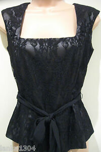 Sleeve Top Blouse Uk Size new Black Short Small Tunic Lace amp; 00 £60 Co Alex HPvCcP