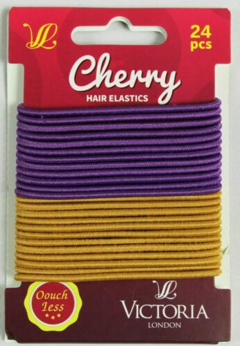 HAIR ELASTICS BANDS THIN METAL /& SNAG FREE PONIES BOBBLES STRONG AND EXPANDABLE