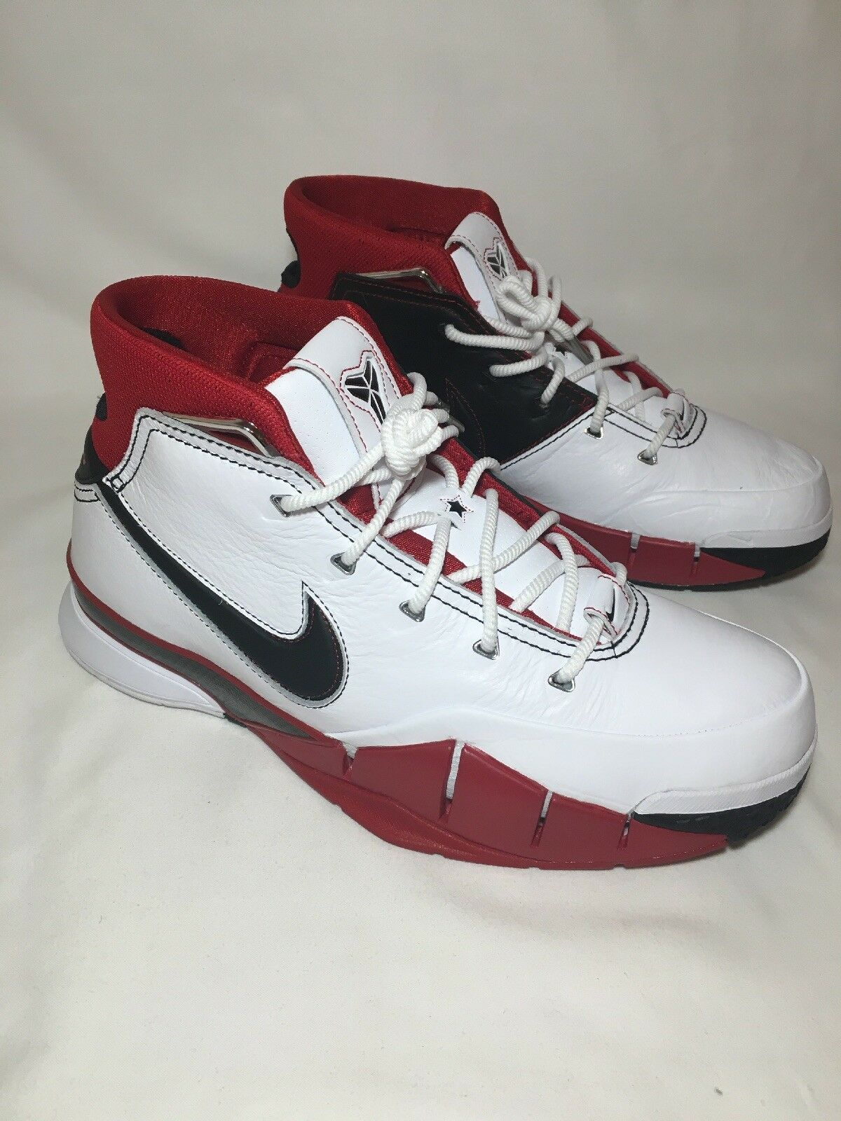 Nike Kobe 1 Predro All Star White Black-Varsity Red; Men's Sz 12 (AQ2728-102)