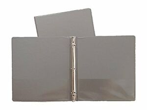 gray vinyl standard 3 ring binders 1 5 inch for 8 5 x 11 sheets