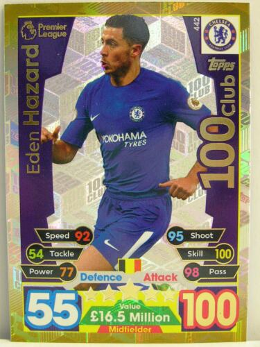 #442 Eden Hazard Match coronó 2017//18 Premier League 100 Club