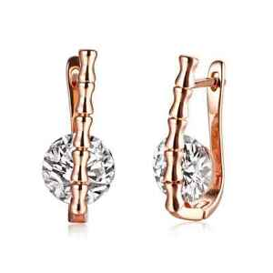 18k-Rose-Gold-Plated-Huggie-Earrings-Made-with-Swarovski-Crystals