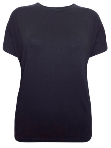 NEW MARKS AND SPENCER SHORT SLEEVE JERSEY BLACK T-SHIRT SIZES 10 TO 18