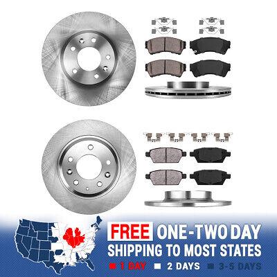 Rear Disc Rotors /& Ceramic Brake Pads Fits Mazda 6