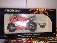 1:12 MINICHAMPS DUCATI MOTOGP 2012 V. ROSSI NEW FREE SHIPPING WORLDWIDE RARE