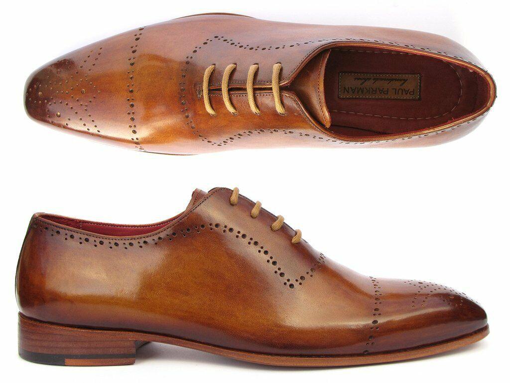 Paul Parkman Men's Light Brown Classic Brogues Oxford shoes ZLS32CML