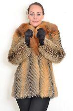 US422 Nice Fox Fur Jacket Coat  chaqueta de zorro Pelzjacke Fuchsjacke ca. L