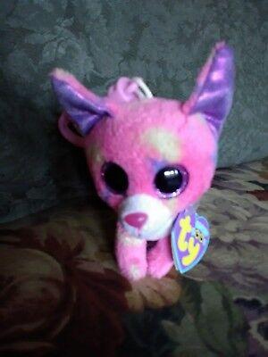 3 Inch MWMT Ty Beanie Boos Key Clip ~ CANCUN the Chihuahua Dog Glitter Eyes