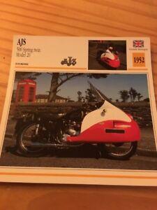AJS-500-Spring-Twin-Modell-20-1952-Karte-Motorrad-Sammlung-Atlas