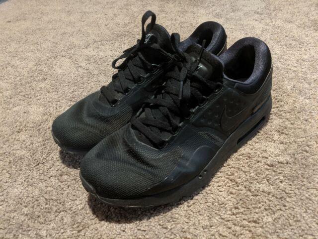 Men's Nike Air Max Zero Shoes Essential Triple Black 876070 006 Size 11.5
