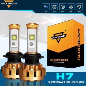 2X-AUXBEAM-H7-LED-Headlight-Kit-Light-Bulbs-Lamp-6000LM-60W-White-Beam-6500K