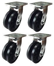 5 X 2 V Groove Caster 4 Swivels