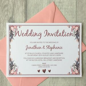 10-Personalised-Wedding-Invitations-Save-the-Date-Invites-Cards-Day-Envelopes