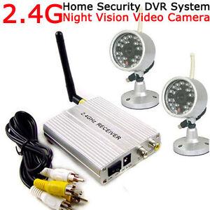 2.4G Wireless Home Security CCTV System +2pcs Outdoor Waterproof IR Night Camera