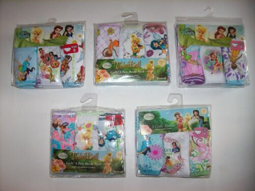Disney Fairies Underwear Underpants Girls 3 Pr Panty 4 6 Tinkerbell & Friends