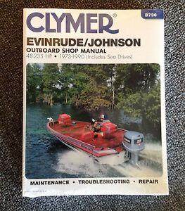 clymer evinrude johnson outboard manual 48 235 hp 1973. Black Bedroom Furniture Sets. Home Design Ideas