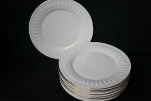 8-Eight-Oneida-Majestic-Ware-ATHENA-GOLD-Salad-Plates-7-3-4-034