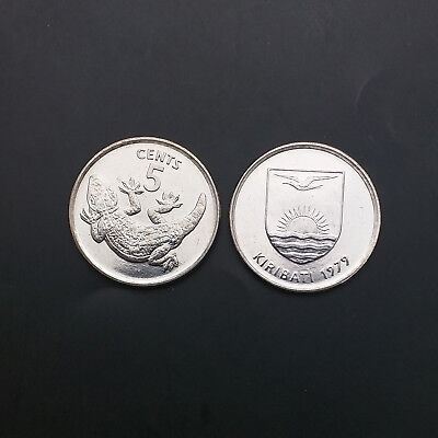 Fauna Animals Kiribati 5 Cents 1979 km3, Lizards coin Uncirculated