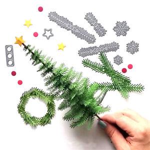 Metal-arbol-de-Navidad-corte-corona-muere-stencil-Bloc-de-notas-bricolajeK