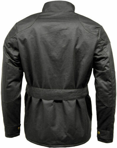 Mens Game Speedway Quilted Biker antique waxed cotton Motorcycle Jacket