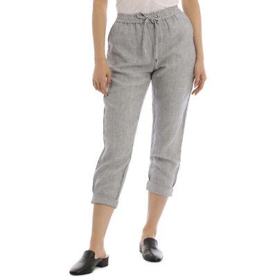 NEW Jump Stripe Linen Pant Blue