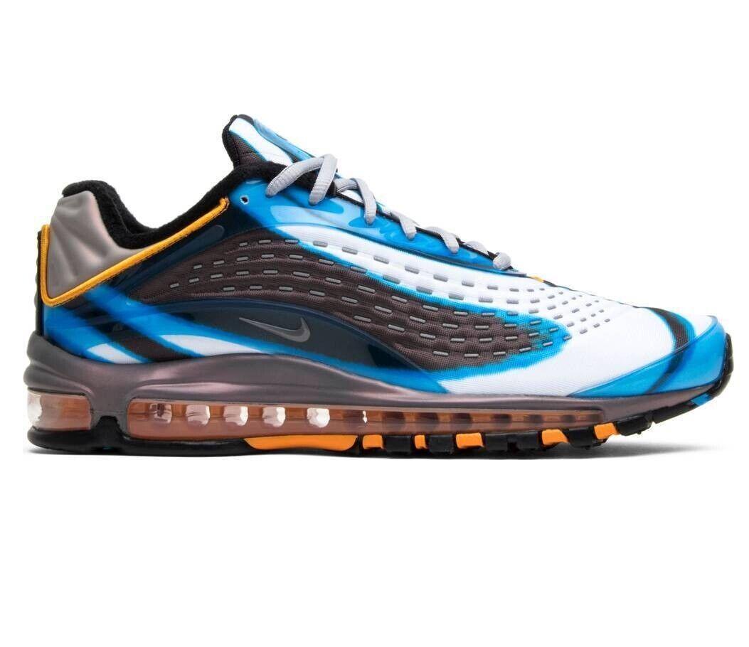Nike Air Max Deluxe Photo bluee orange Peel AJ7831-401 Mens shoes