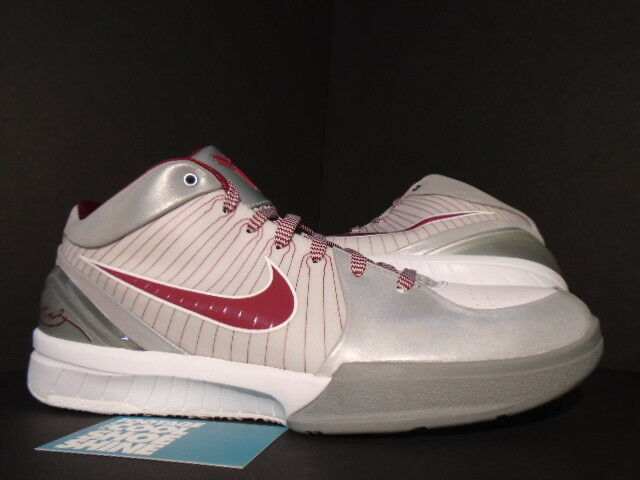 official photos bb604 17d85 2009 Nike Zoom Kobe IV 4 Lower Merion Aces Silver Reflect 3m White Team Red  11  eBay