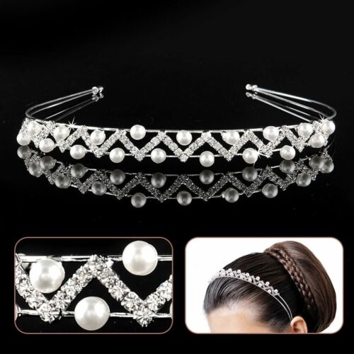 Tiara Diadem Beads Hair Gesteck Accessories Bridal Rhinestone Wedding Headband