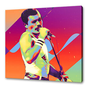 Freddie Mercury Queen canvas print picture wall art home decor free UK delivery