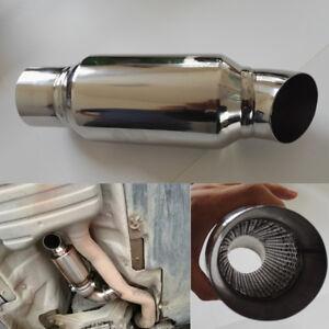 Universal-Edelstahl-Auto-Auspuff-Fallrohr-Schalldaempfer-Tuning-Rohr-51mm-51mm
