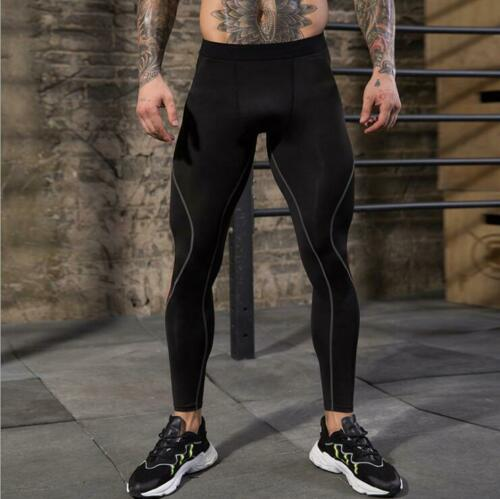 Mens Gym Fitness Compression Base layer Running Sports Cool Dry Pants Tights
