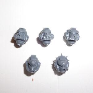 Space Marines Vanguard Veteran Squad Helmets X 5  - G175