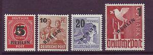 Berlin 1949 postfrisch MiNr. 64-67  Freimarken geprüft Schlegel