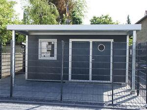 Go iso hochwertiges gartenhaus isoliert anthrazitgrau 5 00 x 4 50 m ebay - Gartenhaus isoliert ...