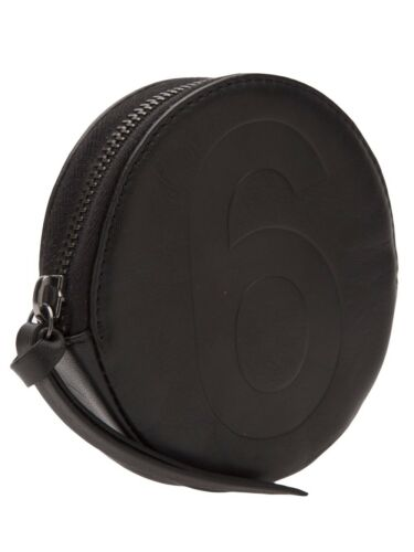 Purse Coin Leather Mm6 By Black Martin Maison Margiela qYHR0w