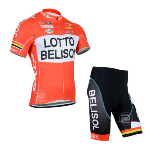 KJU351 New Team Mountain Racing Cycling Short Sleeve Jersey bib Shorts Size S-XX